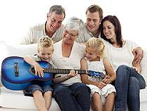 Gitarrenunterricht mit Familienermäßigung