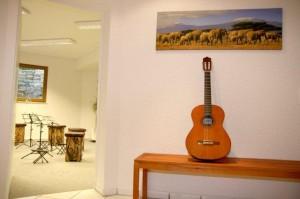 Unser Unterrichtsraum für Gitarrenunterricht in Wiesloch-Schatthausen